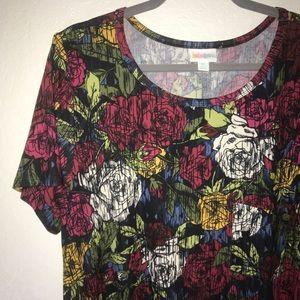 Roses Carly w/ Black Microstripes BNWT 2X LuLaRoe
